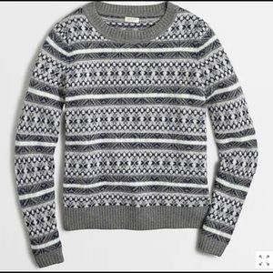 Wool blend J Crew Fair Isle Pullover Sweater